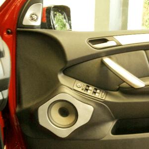 カーオーディオ アウターバッフル製作(左右・部分成型)