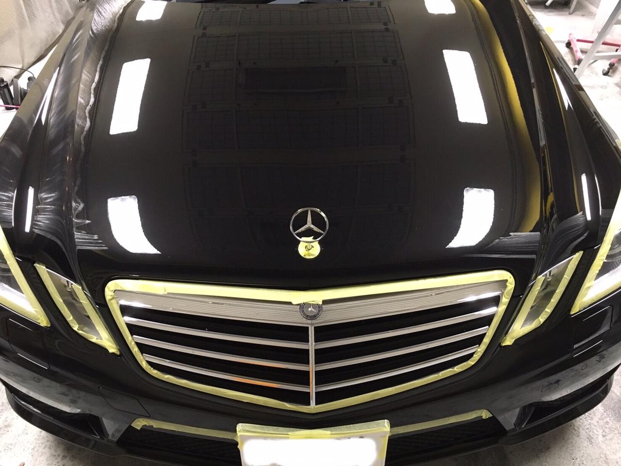 メルセデスベンツ E63 AMG ガラスコーティング施工後2