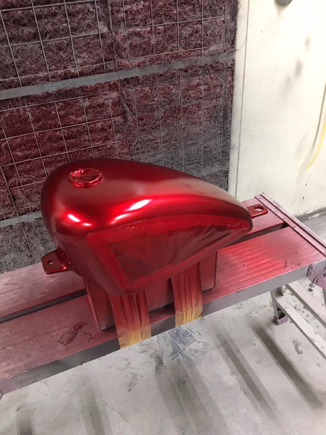 バイク ハンドル・燃料タンク塗装施工後6
