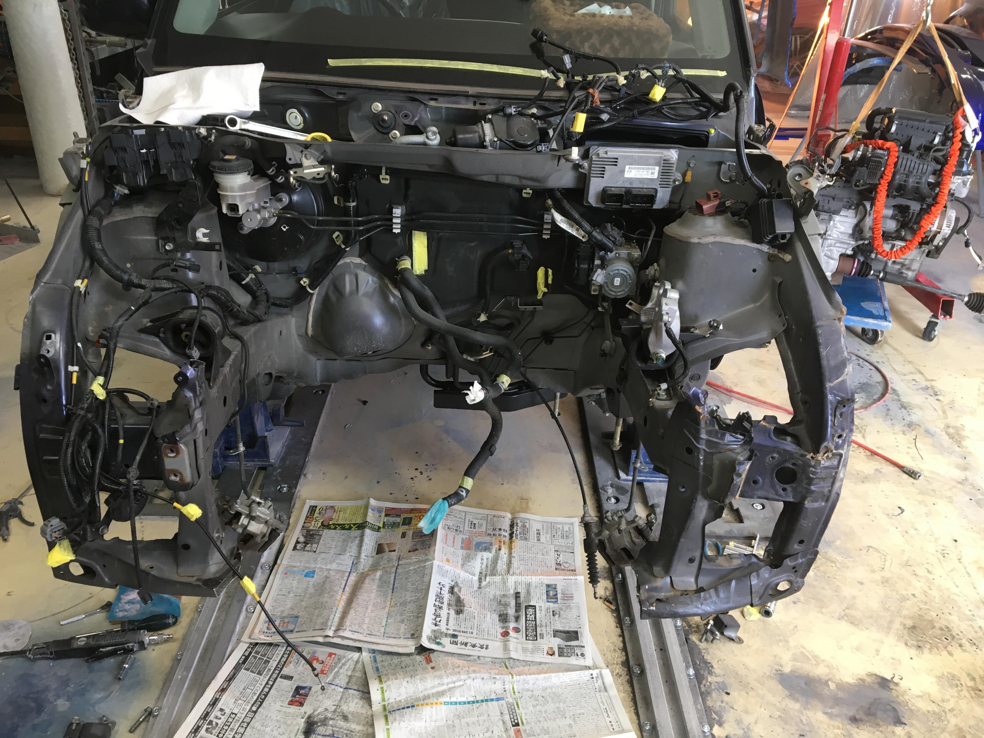 事故修理施工後1