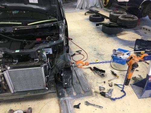 スティングレー事故修理